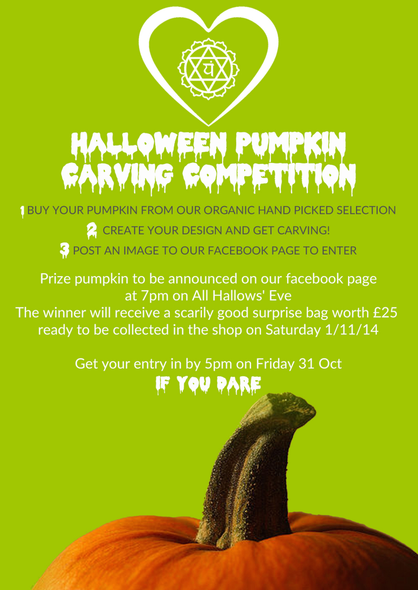 Enter by 5pm Friday 31st Oct.