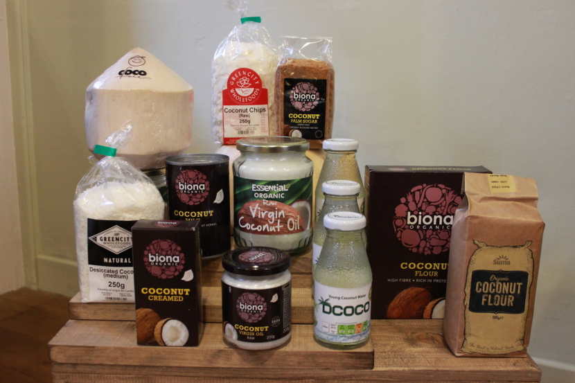 Our range of coconut products.