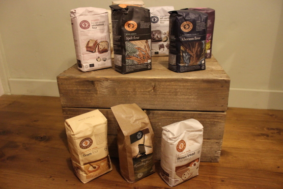 A selection of our flours including ancient grains and gluten free varieties.
