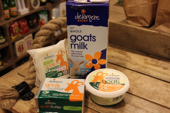 A selection of our Goat products in store.